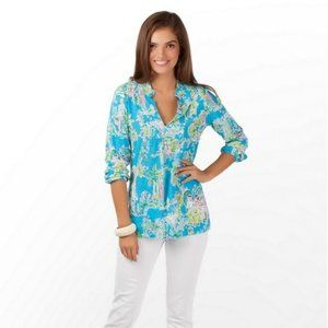 Lilly Pulitzer Turquoise Jungle Glam Toile Small